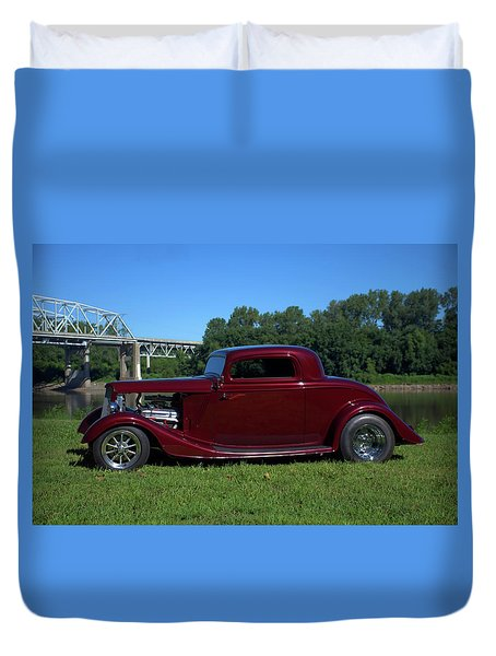 1934 Ford Coupe Duvet Cover by Tim McCullough