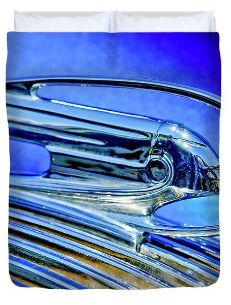 1936 Pontiac Hood Ornament 5 Duvet Cover