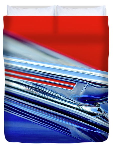 1938 Chevrolet Hood Ornament 2 Duvet Cover by Jill Reger