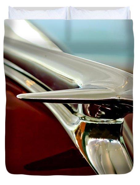1938 Lincoln Zephyr Hood Ornament Duvet Cover by Jill Reger