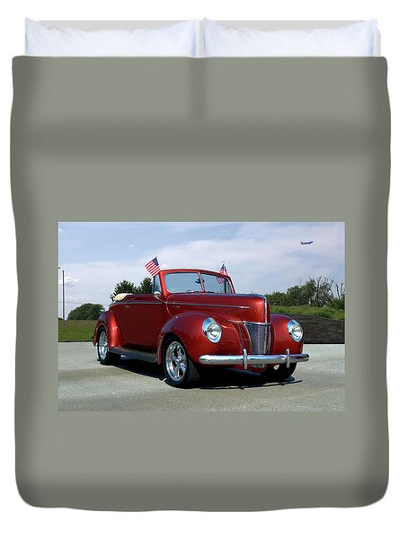 1940 Ford Convertible Duvet Cover