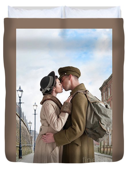 1940s Lovers Duvet Cover