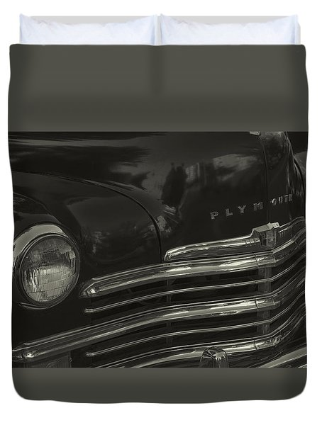 1949 Plymouth Deluxe  Duvet Cover