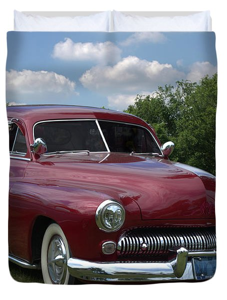 Duvet Cover featuring the photograph 1950 Mercury by Tim McCullough