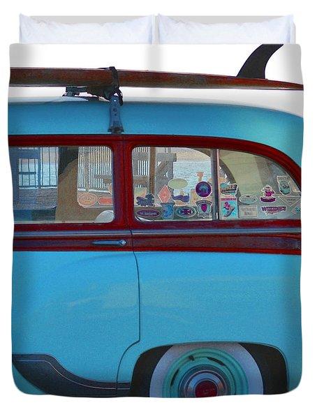 1954 Pontiac Chieftain Station Wagon Duvet Cover by Bill Owen