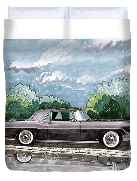 1956  Lincoln Continental Mk II Duvet Cover by Jack Pumphrey