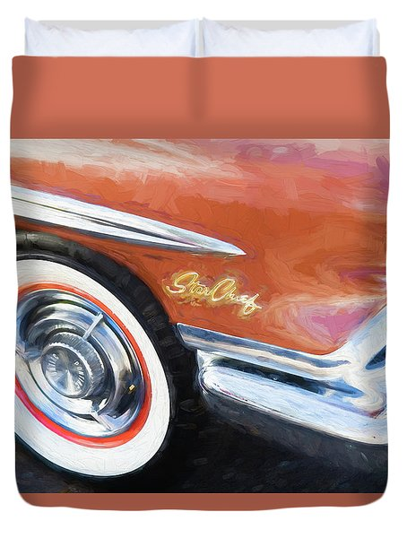 1958 Pontiac Star Chief  Duvet Cover by Rich Franco