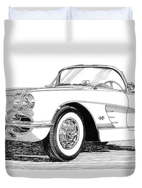 1960 Corvette Duvet Cover