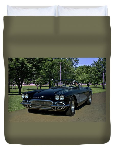 1961 Corvette Duvet Cover