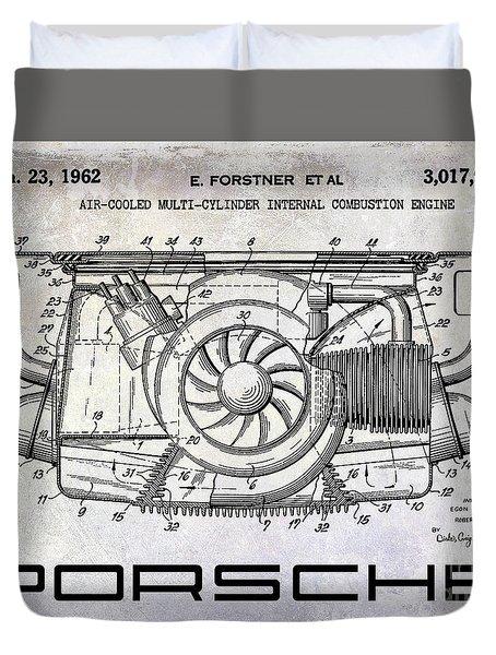 1962 Porsche Engine Patent Duvet Cover