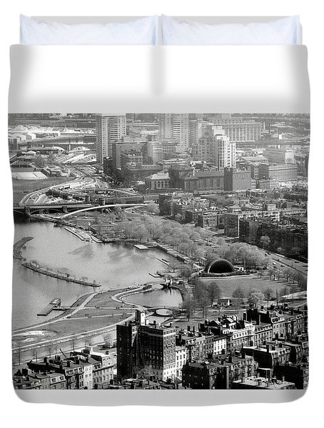Duvet Cover featuring the photograph 1965 Boston's Back Bay And Beacon Hill by Historic Image