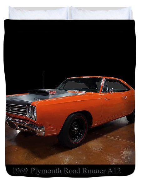 1969 Plymouth Road Runner A12 Duvet Cover