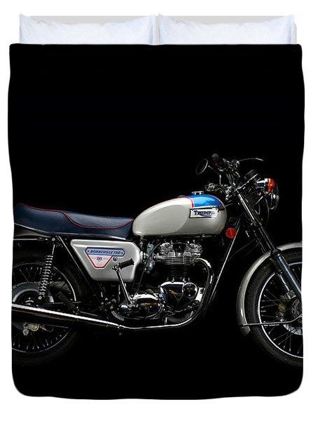 1977 Triumph Bonneville Silver Jubilee Duvet Cover