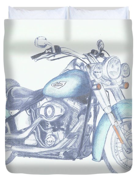2015 Softail Duvet Cover by Terry Frederick