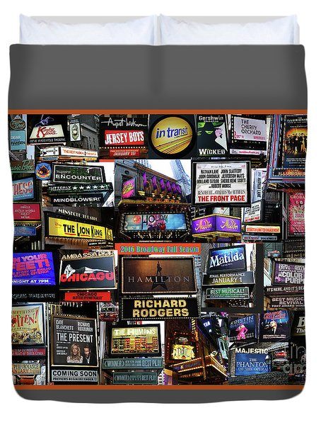 2016 Broadway Fall Collage Duvet Cover