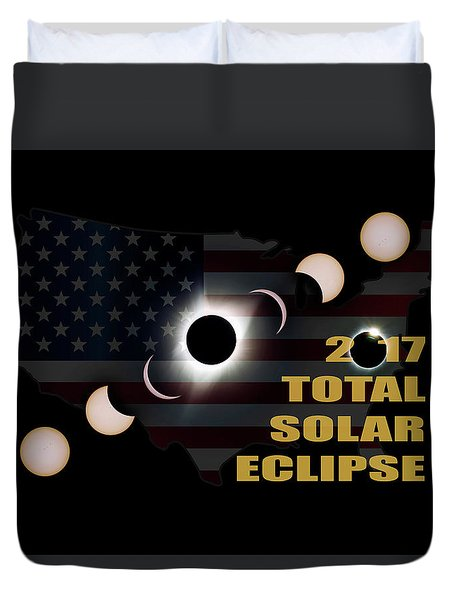 2017 Total Solar Eclipse Across America Duvet Cover by David Gn