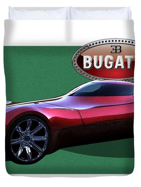 2025 Bugatti Aerolithe Concept With 3 D Badge  Duvet Cover