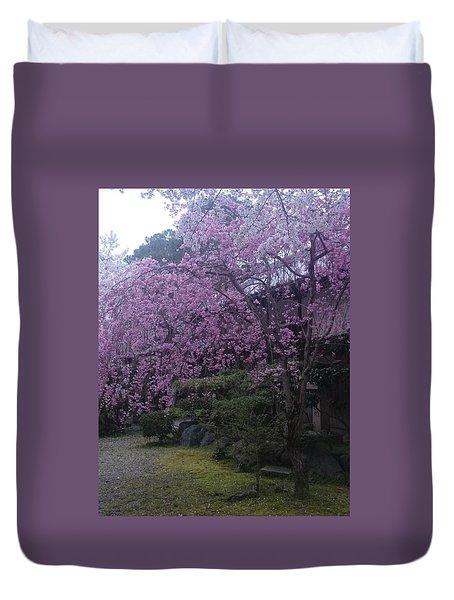 Shidarezakura Mean A Drooping Cherry Tree  Duvet Cover