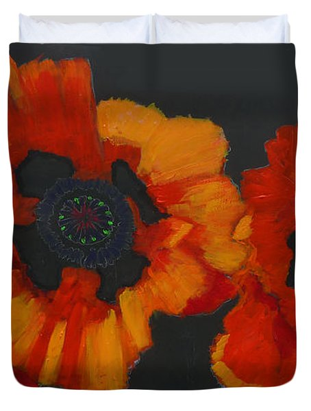 3 Poppies Duvet Cover