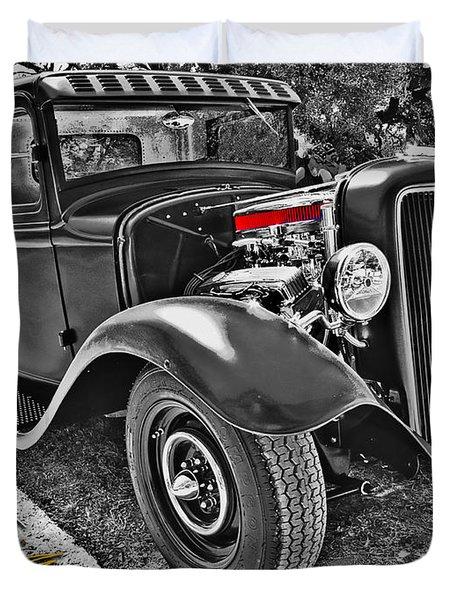 34 Ford Rat Rod Pickup Duvet Cover