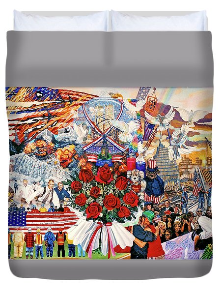 9/11 Memorial Duvet Cover by Bonnie Siracusa