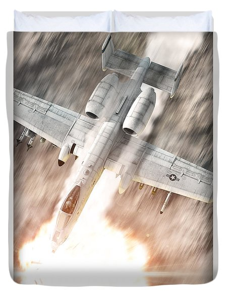 A-10 Thunderbolt II Duvet Cover by David Collins