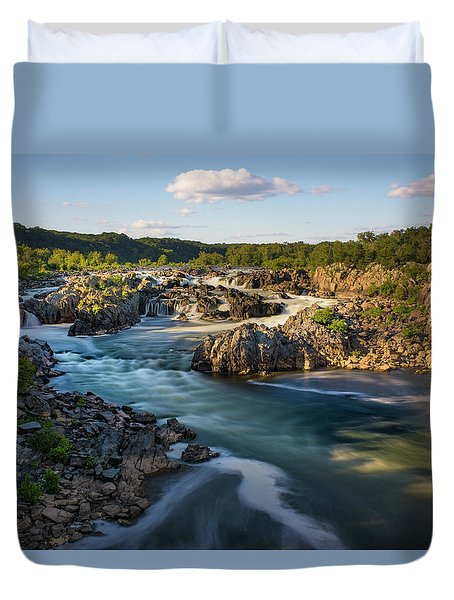 A Day In The Life Of A River Duvet Cover
