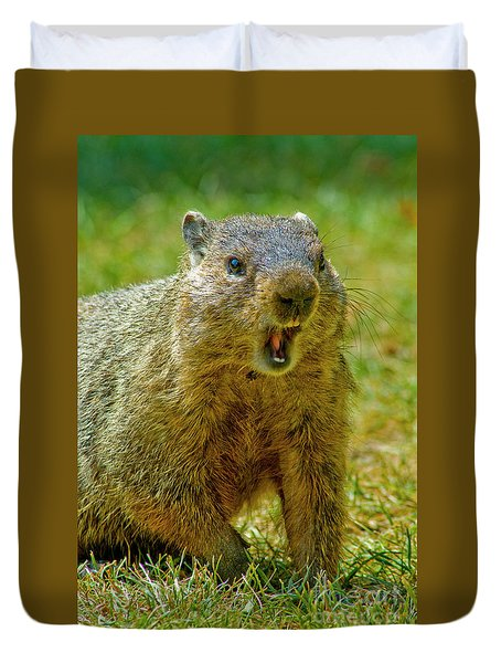 A Hungry Fellow  Duvet Cover