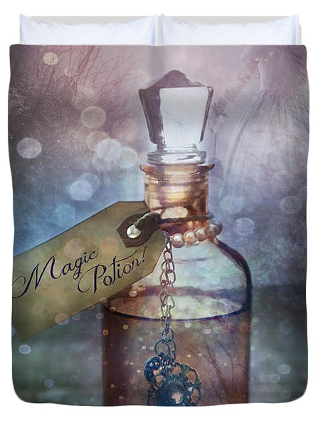 A Little Bottle With A Potion That Says Drink Me Duvet Cover