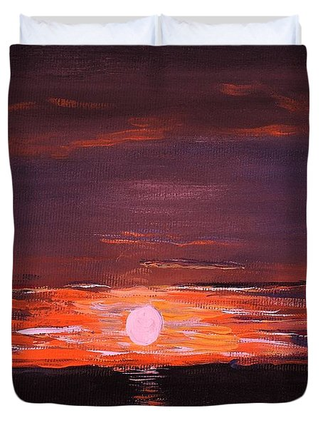 A Little Sun For Gaby Duvet Cover by Reb Frost