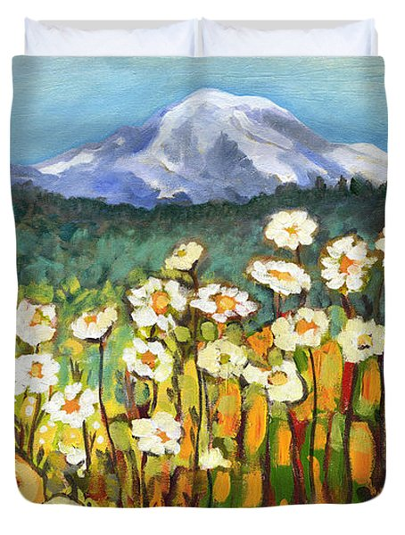 A Mountain View Duvet Cover