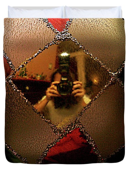 Duvet Cover featuring the photograph A Photographer's Christmas Greeting by Trish Mistric