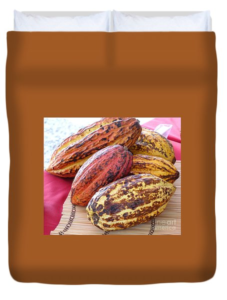 A Pile Of Cacao Pods Duvet Cover