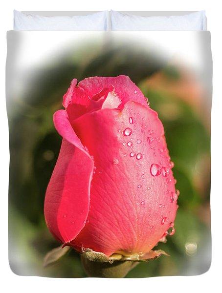 A Rose For Love Duvet Cover
