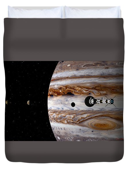 Duvet Cover featuring the digital art A Sense Of Scale by David Robinson