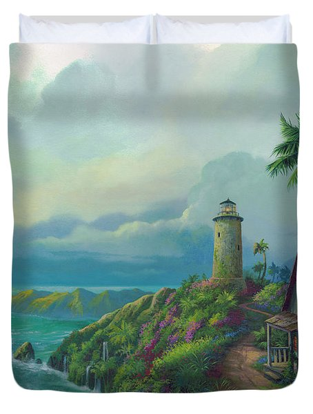 Duvet Cover featuring the painting A Small Patch Of Heaven by Michael Humphries