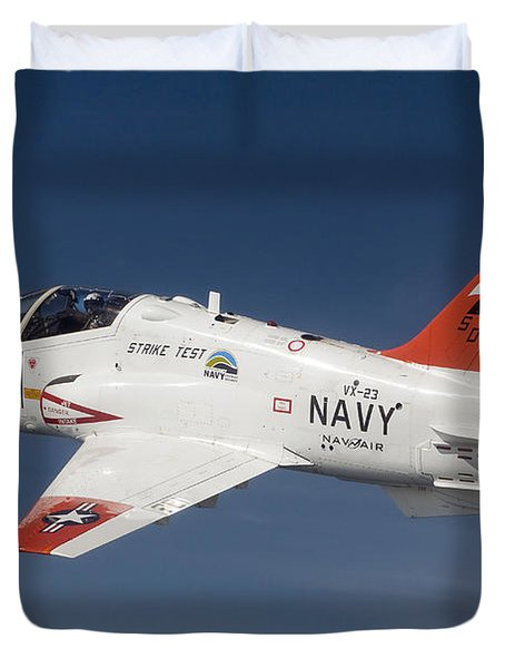 A T-45c Goshawk Training Aircraft Duvet Cover by Stocktrek Images