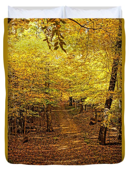 A Walk In The Woods Duvet Cover by Steven Clipperton