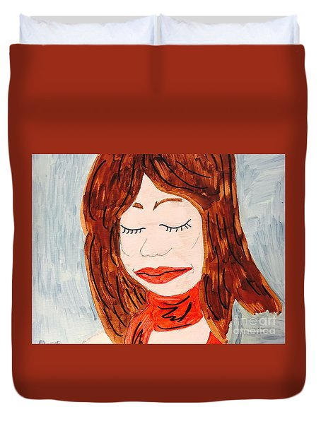 A Young Woman  Duvet Cover
