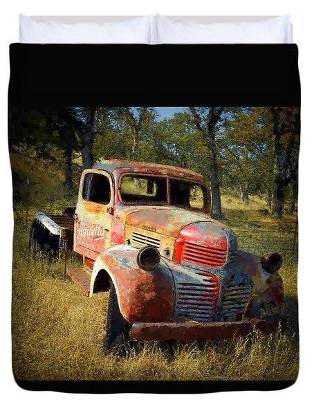 Abandoned Dodge Truck Duvet Cover by Frank Wilson