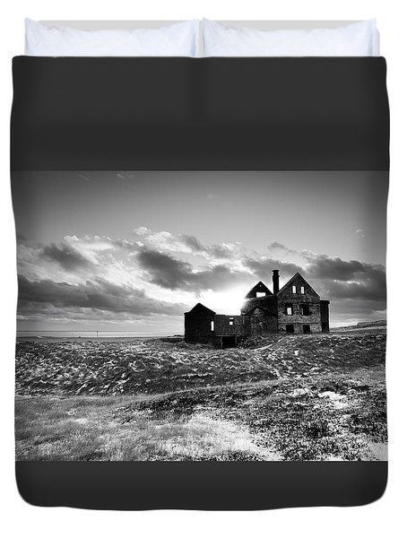 Abandoned Farm On The Snaefellsnes Peninsula Duvet Cover