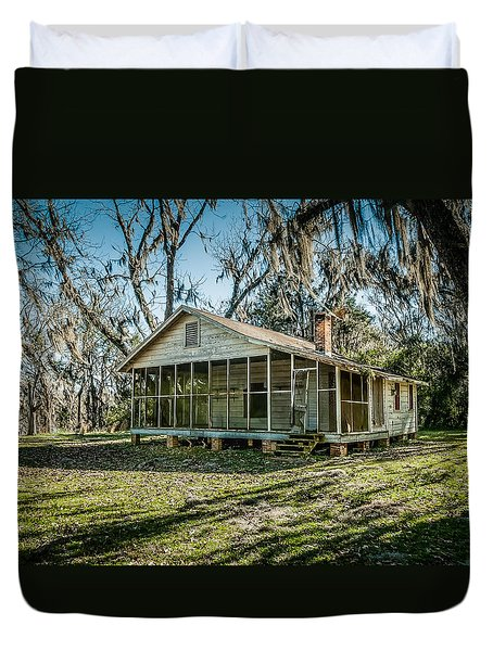Abandoned House Old Cahawba Duvet Cover by Phillip Burrow