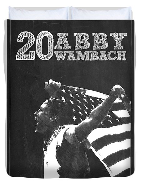 Abby Wambach Duvet Cover