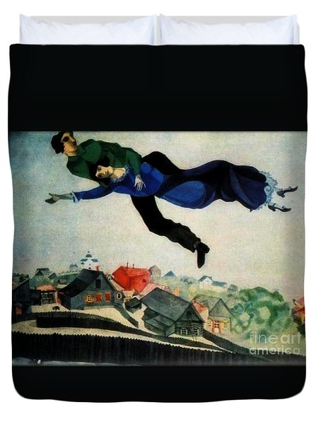 Above The Town Duvet Cover by Chagall