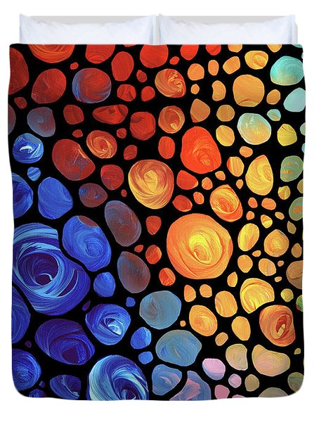 Abstract 1 Duvet Cover by Sharon Cummings