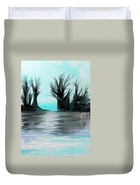 Duvet Cover featuring the digital art Art Abstract by Sheila Mcdonald