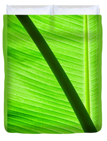 Abstract Banana Leaf Duvet Cover