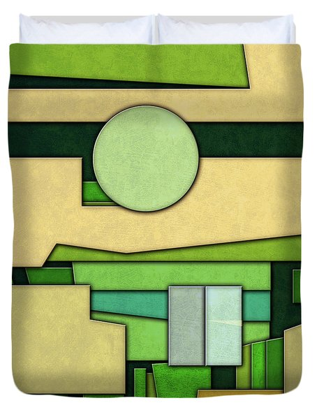 Abstract Cubist Duvet Cover