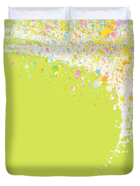Abstract Curved Duvet Cover
