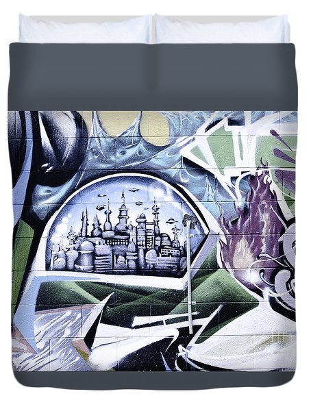 Abstract Graffiti Duvet Cover